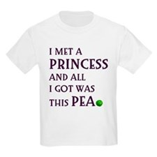The Princess and the Pea Kids T-Shirt