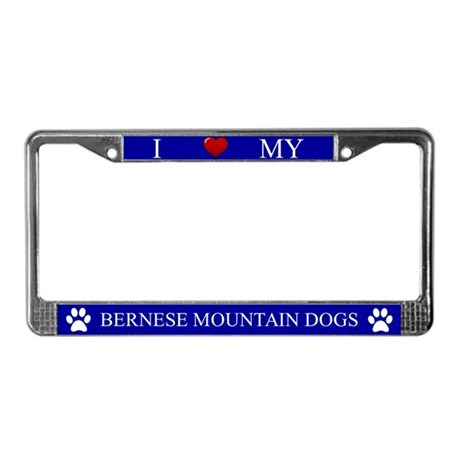 Blue I Love My Bernese Mountain Dogs Frame