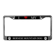 Black I Love My Bernese Mountain Dog Frame