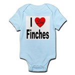 I Love Finches Infant Creeper