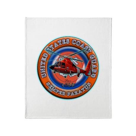 USCG Life Ring-Helo Throw Blanket