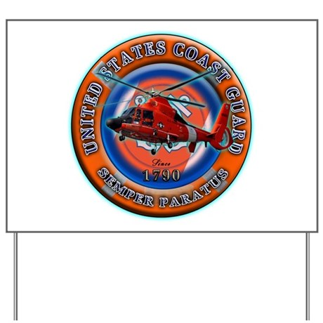 USCG Life Ring-Helo Yard Sign