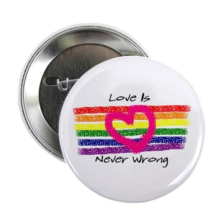 "Love is never wrong 2.25"" Button (10 pack)"
