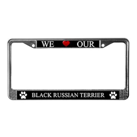 Black We Love Our Black Russian Terrier Frame