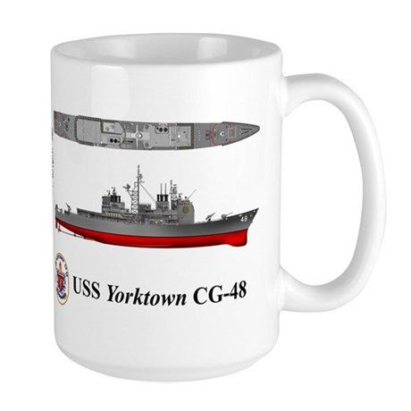 USS Yorktown CG-48 Large Mug