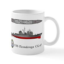 USS Ticonderoga CG-47 Mug