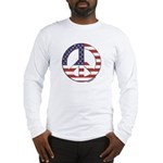 FlagPeaceSign Long Sleeve T-Shirt