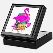 Family of Pink Flamingos Keepsake Box