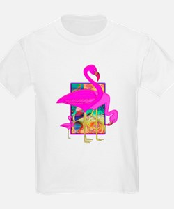 Family of Pink Flamingos T-Shirt
