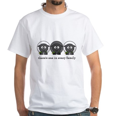 Black Sheep White T-Shirt