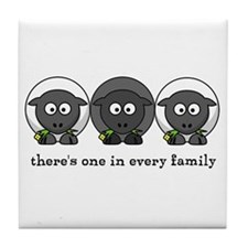 Black Sheep Tile Coaster