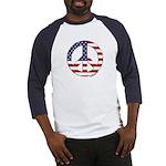 FlagPeaceSign Baseball Jersey