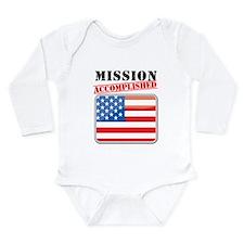 Mission Accomplished Long Sleeve Infant Bodysuit