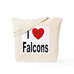 I Love Falcons Tote Bag