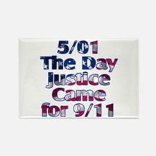 5/01 Justice for 9/11 Rectangle Magnet