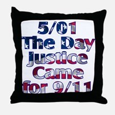 5/01 Justice for 9/11 Throw Pillow