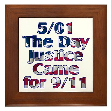 5/01 Justice for 9/11 Framed Tile