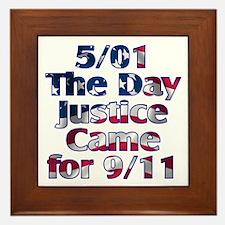 5/01 Justice for 9/11 Framed Tile