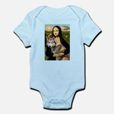 Mona & her Red Husky Infant Bodysuit