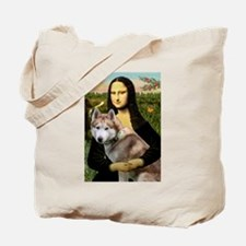 Mona & her Red Husky Tote Bag