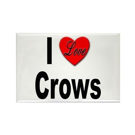 I Love Crows Rectangle Magnet