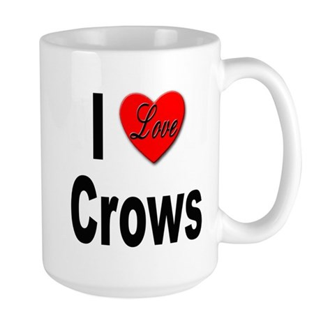 I Love Crows Large Mug