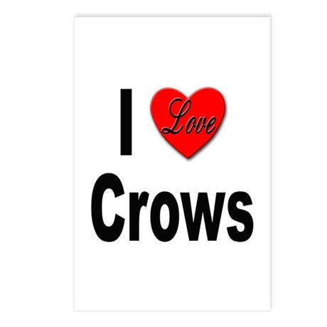I Love Crows Postcards (Package of 8)