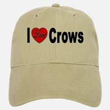 I Love Crows Baseball Baseball Cap
