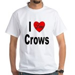 I Love Crows (Front) White T-Shirt