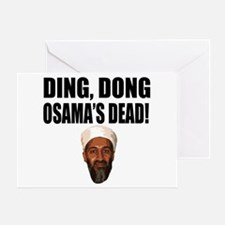 Ding Dong Osama's Dead Greeting Card