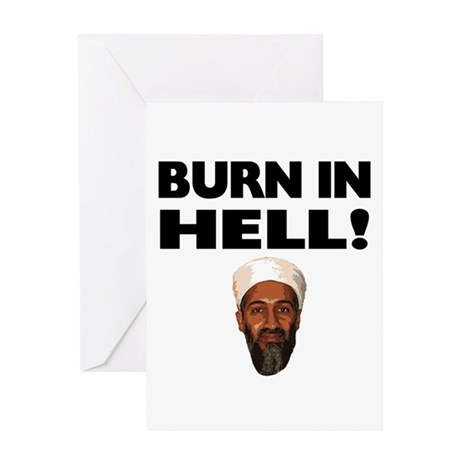 Burn in Hell Osama Greeting Card