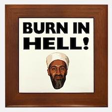 Burn in Hell Osama Framed Tile