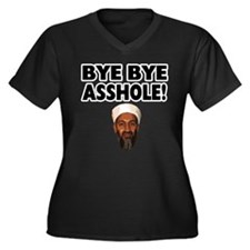 Bye Bye Asshole (Bin Laden) Women's Plus Size V-Ne