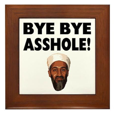 Bye Bye Asshole (Bin Laden) Framed Tile