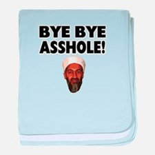 Bye Bye Asshole (Bin Laden) baby blanket