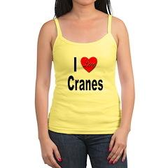 I Love Cranes Jr.Spaghetti Strap