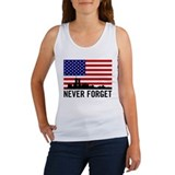 9 11 never forget Women's Tank Tops