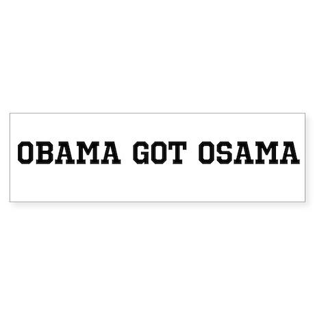 Obama got Osama bumper sticker