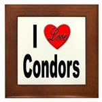 I Love Condors Framed Tile