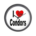 I Love Condors Wall Clock
