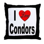 I Love Condors Throw Pillow