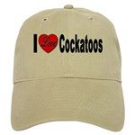 I Love Cockatoos Cap