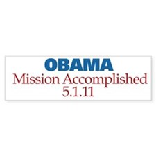 Mission Accomplished Bumper Sticker