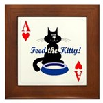 Cats Playing Poker Framed Tile