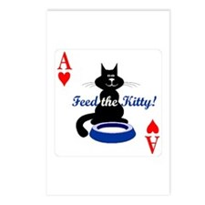 Cats Playing Poker Postcards (Package of 8)