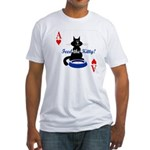 Cats Playing Poker Fitted T-Shirt
