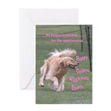Golden retriever Greeting Cards