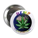 "Hemp Planet 2.25"" Button (100 pack)"