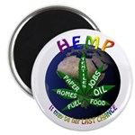 "Hemp Planet 2.25"" Magnet (100 pack)"