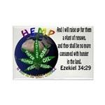Hemp Planet Rectangle Magnet (100 pack)